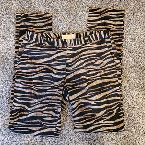 Michael Kors animal print pants size 8